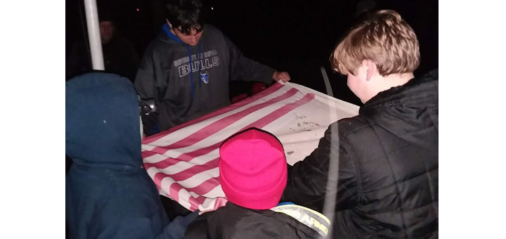 Boy Scouts Respect our Flag