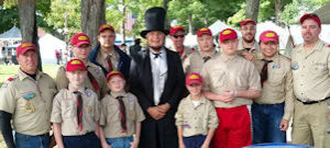 Troop 410 with Abe Lincoln